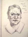 Study of  Portrait at the VMFA, Graphite on Paper