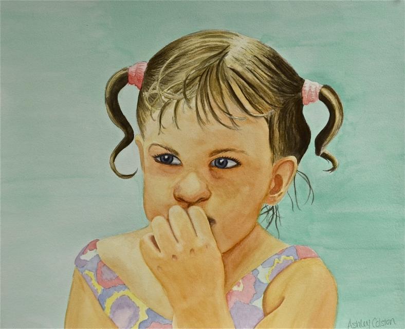 Ashley Colston, Self-Portrait as a little girl