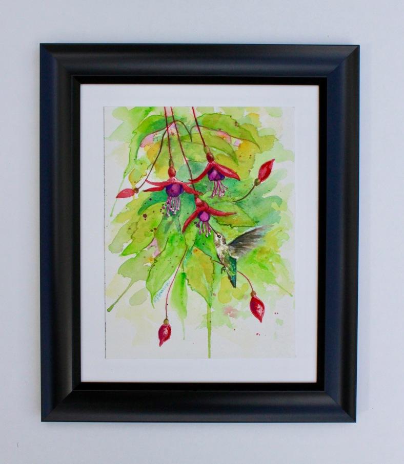Hummingbird red flowers