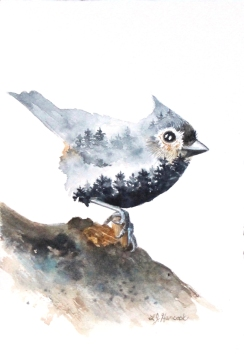 Tufted Titmouse www.marneestudio.com