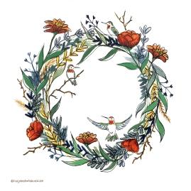 Hummingbird Wreath
